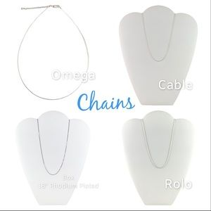"""Chains 925 Sterling 16"""" and 18 inch NEW"""
